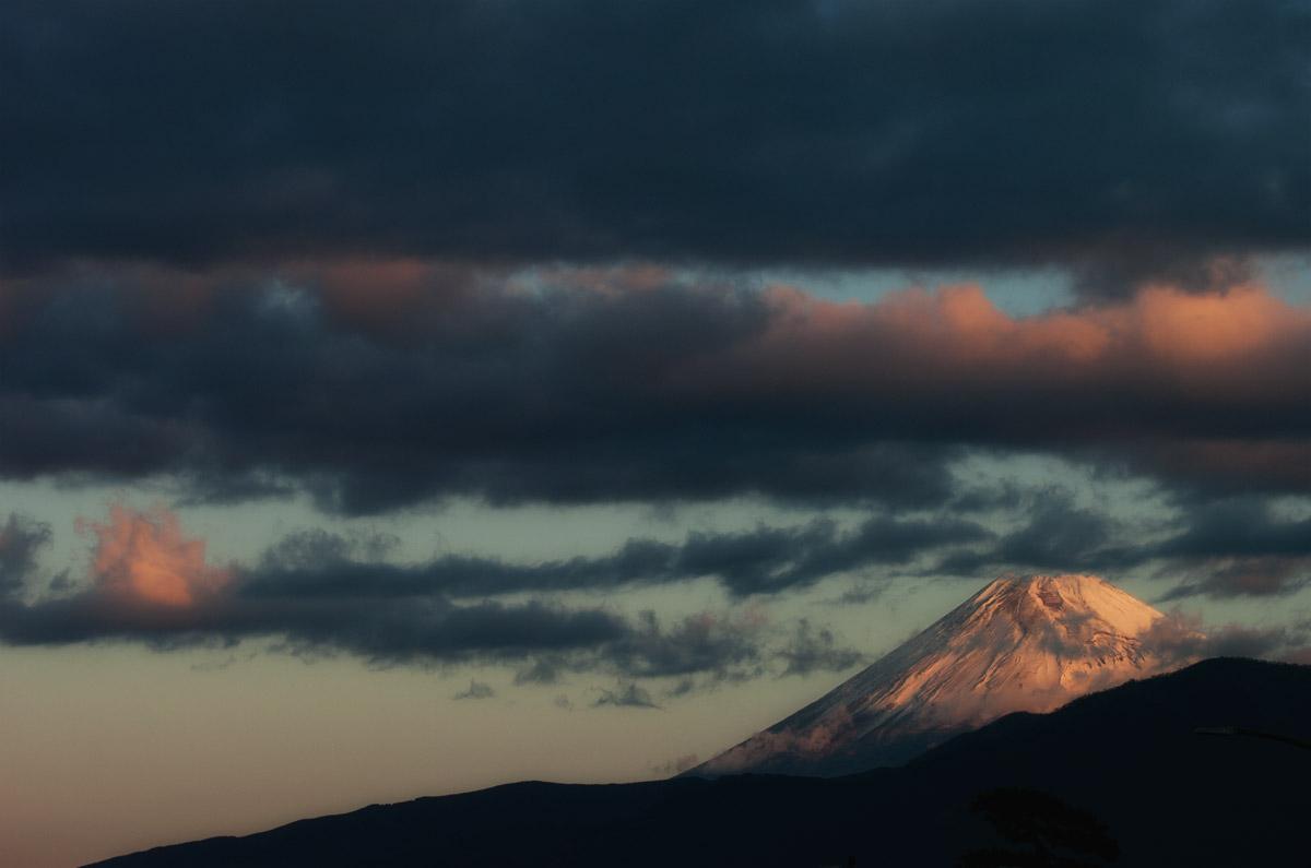 1朝の富士山