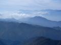 頂上から見る山々
